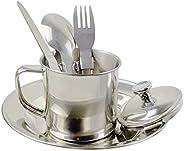Generic 6 Piece Portable Tableware Set Bowl Mess Kit Accessories