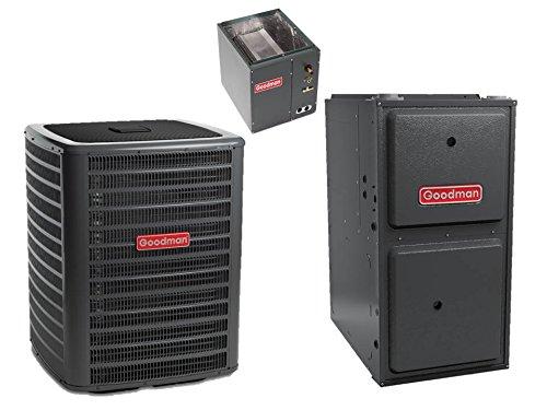 2.5 Ton 15 Seer Goodman 80,000 Btu 96% Afue Gas System - GSX160301 - CAPF3137B6 - GMEC960803BN - TXV-30