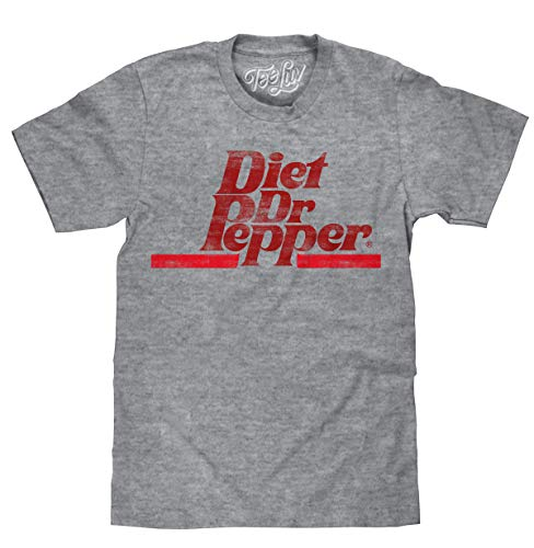 (Tee Luv Diet Dr Pepper T-Shirt - Distressed Dr Pepper Logo Shirt (XX-Large))