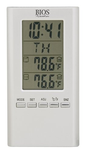 Price comparison product image Thermor Bios Indoor / Outdoor Wired Digital Thermometer (White,  4.25-Inch x 6.5-Inch x 0.5-Inch)