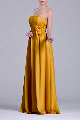 A Strapless Chiffon Women's Sunbeam Long Dress Adorona Line zEUnq