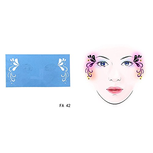 Towashine 1Pc Face Paint Stencils (38 Designs) -