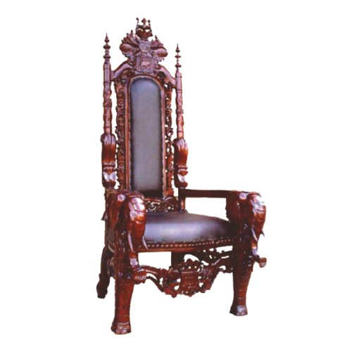 Offex Mahogany Solid Wood Elephant King Comfort Majestic Arm Chair