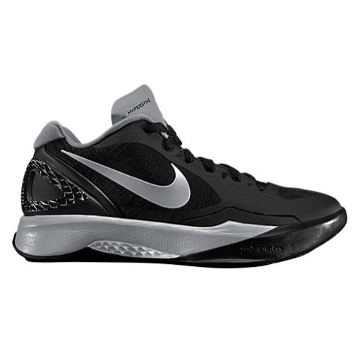 Nike Women's Volley Zoom Hyperspike Training Shoe (5 M US, Black/White/Grey/Metallic Silver)