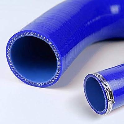 Silicone Radiator Coolant Hose Pipe Kit Clamps For Honda TRX450R 2006 2007 2008 2009 2010 Blue: Automotive
