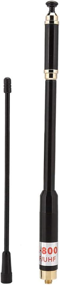 Femal High Gain Walkie Talkie Antenna RH-660S SMA-F Female//Male 144//430MHz Dual Band Telescopic Antenna for BaoFeng UV-5R GT-3TP UV-82HP BF-