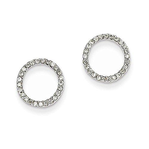 14K White Gold 1/4Ctw Circle Diamond Earrings Diamond quality A (I2 clarity, I-J ()