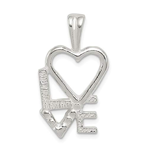 - 925 Sterling Silver L Heart V E Chain Slide Pendant Charm Necklace Fine Jewelry Gifts For Women For Her