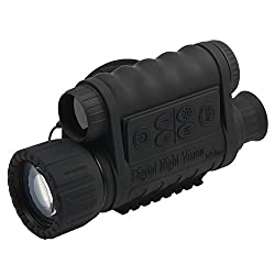"bestguarder WG-50 6x50mm HD Digital Night Vision Monocular with 1.5"" TFT LCD and Camera, Black"
