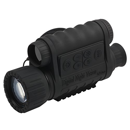 bestguarder WG-50 6x50mm HD Digital Night Vision Monocular with 1.5' TFT LCD and Camera, Black