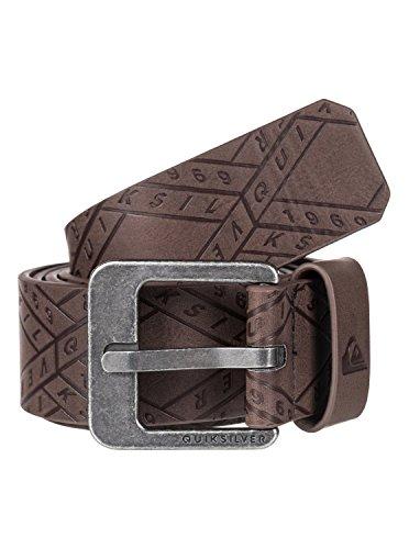Quiksilver Mens Always Primo Faux-Leather Belt Brown M-34 (Quiksilver Embossed Belt)