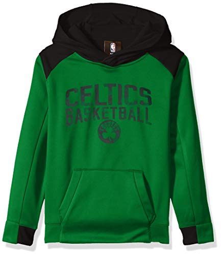 (NBA by Outerstuff NBA Kids & Youth Boys Boston Celtics Off The Court Performance Pullover Hoodie, Kelly Green, Youth)