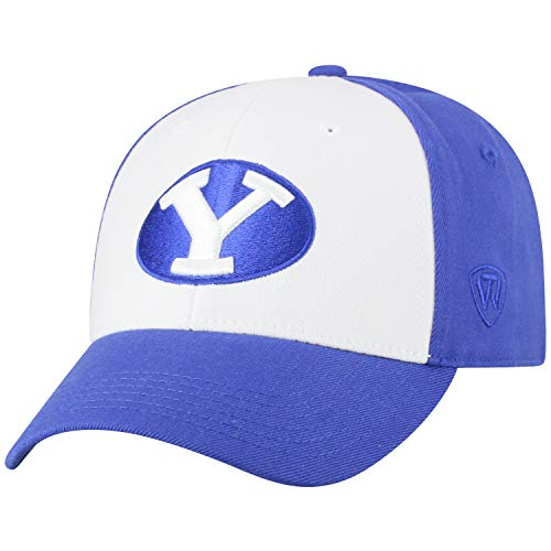 Top of the World NCAA-Premium Collection Two Tone-One-Fit-Memory Fit-Hat Cap- BYU Cougars