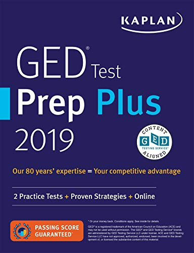 GED Test Prep Plus 2019: 2 Practice Tests + Proven Strategies + Online (Kaplan...