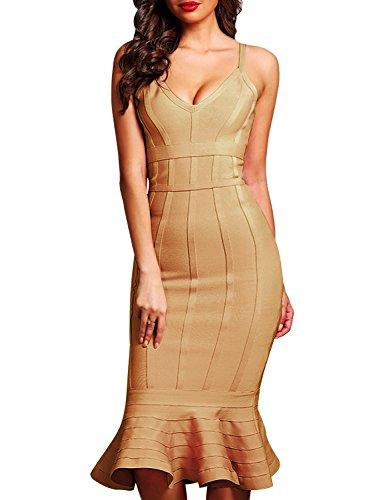 olive bandage dress - 8
