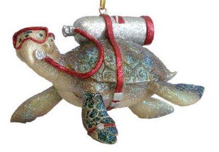 (December Diamonds Tortuga Scuba Diving Sea Turtle Christmas Ornament 5590387 New)