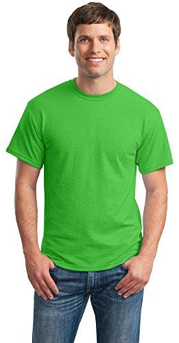 Gildan Mens DryBlend 50 Cotton/50 Poly T-Shirt, 3XL, Electric Green