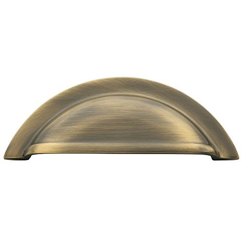 Baldwin 4424050 Cup Cabinet Pull, Antique Brass