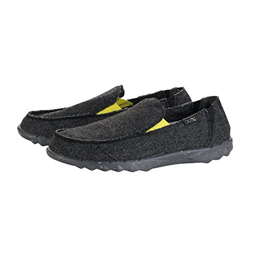 Hey Dude Shoes Männer Farty Wolle Carbon Slip-on / Maultier Schwarz