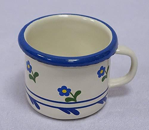 Pastell Hellblau 5 cm. Emaille Espressotasse Schnapsbecher Moccatasse