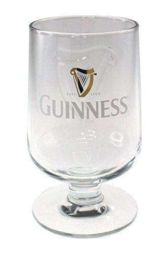 Guinness Embossed Stem Glass - Stout Beer Guinness