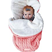 UNIQUEONE Newborn Baby Blanket Toddler Sleeping Bag Sleep Sack Stroller Wrap Size 0-24Months (Pink)