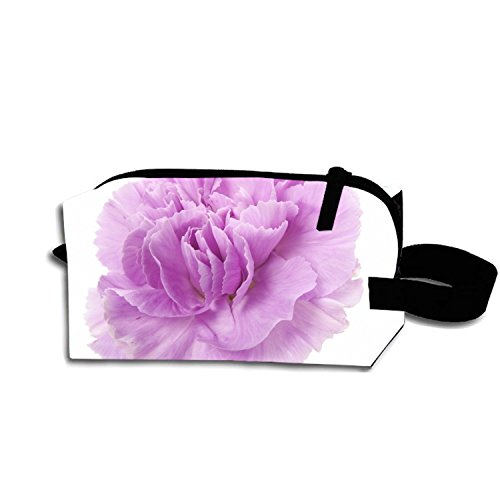Pink Carnations Makeup Pouch Portable Travel Cosmetic Bags Durable Waterproof Pencil - Carnation Pink Travel Wallets