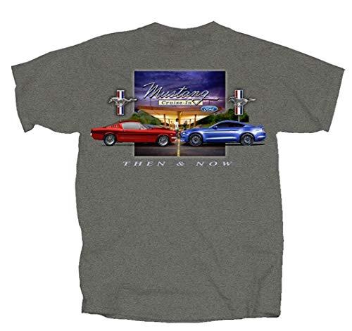 - Joe Blow Ford Mustang Then & Now T-Shirt-XXL