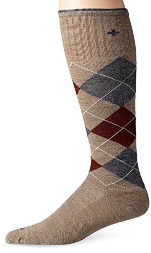 Sockwell Men's Argyle Circulator Socks, Khaki, Large/X-Large