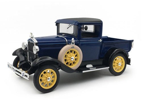 1931 Ford Model A Pickup Truck Lombard Blue 1/18 Diecast Model Car by Sunstar 6112