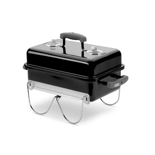 Weber 121020 Go-Anywhere Charcoal Grill (Charcoal Grilling Chicken Grill A On)