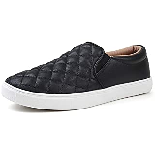 STQ Slip On Sneakers for Women Casual Comfort Walking Shoes Black 7