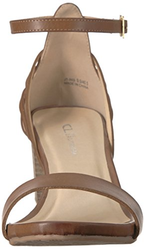 Women's Chinese CL Laundry Brown Smooth Joy Heeled Sandal by qPTtOTa