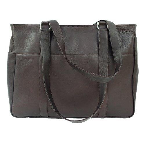 One Piel Size Leather Shopping Saddle Chocolate Bag Medium XaTpqwTC