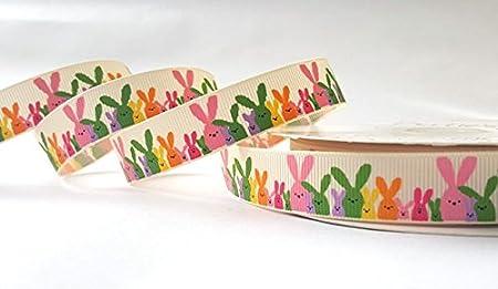 3m easter bunny rabbit ribbon decorative ribbon for gift wrapping 3m easter bunny rabbit ribbon decorative ribbon for gift wrapping card making crafts negle Images