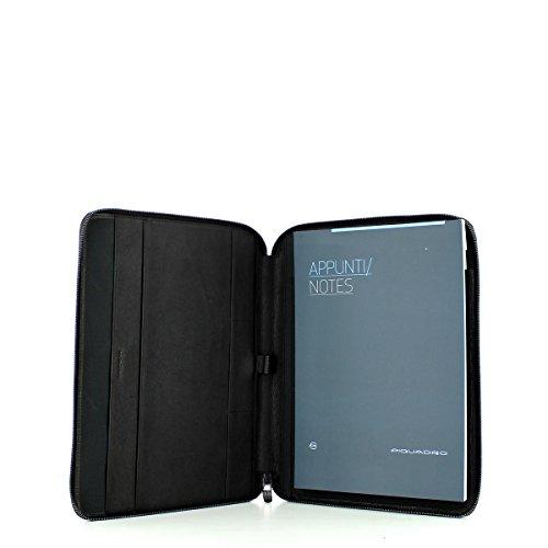 Porta Blocco Sottile formato A4 | Piquadro Black Square | PB1164B3-Testa Moro TESTA MORO