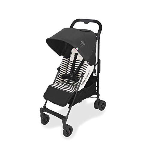 Maclaren Quest arc Stroller - lightweight, compact, Railroad Stripe