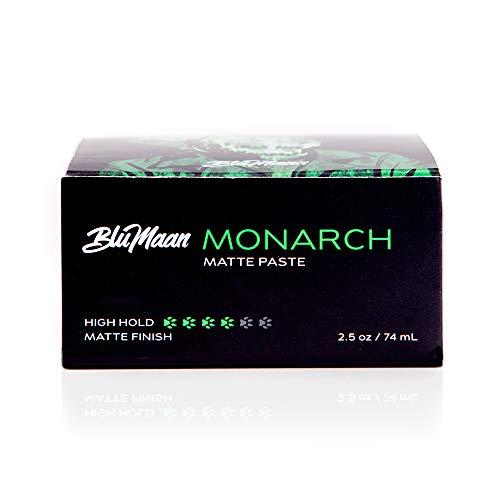 BluMaan Monarch Matte Paste 2.5 oz/74 g (Monarch) (Best Hair Product For Matte Quiff)