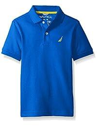 Nautica Boys' Short Sleeve Heritage Pique Polo Shirt