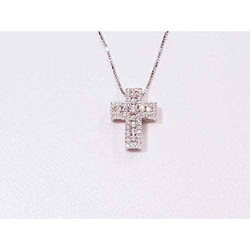 Collier davite cln0103750s or blanc diamant