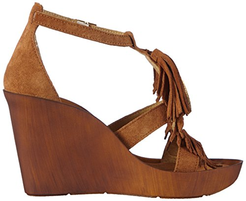 Bronx Damen Bbannerx Wedge Sandalen Braun (790 Mid brown-gold)