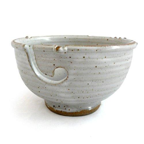 Anthony Stoneware Handmade Yarn Bowl, White YB1-WHITE