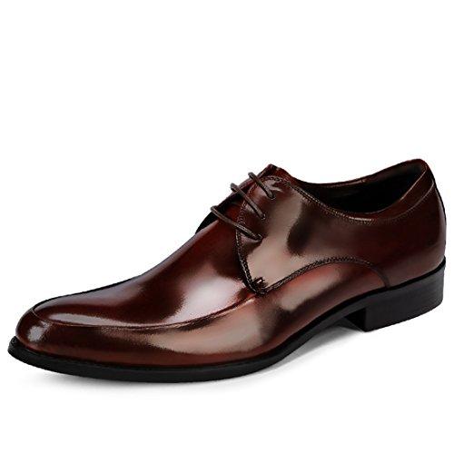 Mens Tillfälligt Arbete Spets-up Klassiska Flerfärgade Läder Vintage Oxford Skor 23.101-1 Vinröd