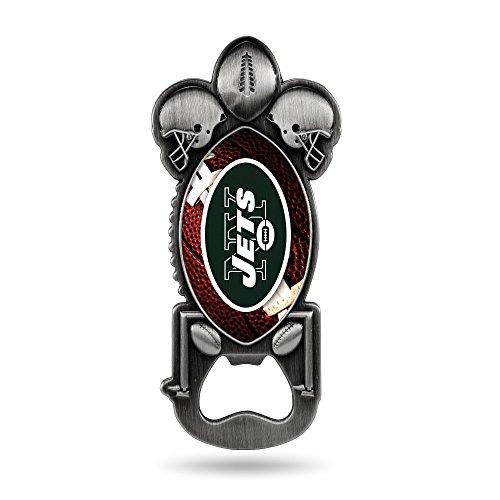Rico Industries NFL New York Jets Magnetic Metal Bottle Opener Party Starter