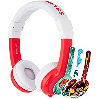 volume limiting lock 2 Pack Pink Explore Foldable Model: Foldable for iPad Blue comp Detachable Cable Kids Headphones by Onanoff built in headphone splitter super durable In Line Mic housing adjustable