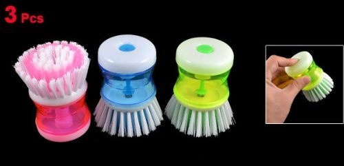 Amazon.com: Empuñadura plástico Pot Ser dispensación cepillo limpiador DE 3 piezas Color clasificado: Health & Personal Care