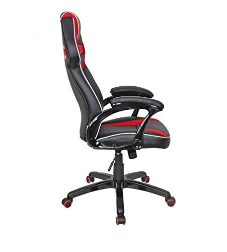 41W7NTCWrAL - MD-Group-Gaming-Chair-Racing-Bucket-Seat-Style-High-Back-Red-PU-Fabric-Mesh-Large-Load-Capacity