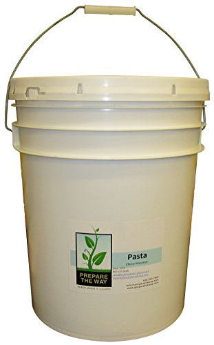 Pasta, Elbow Macaroni Noodles, for Non-gmo Healthy Fresh Italian Recipes - Kept in 5 Gallon Buckets - Emergency Storage, Preparedness Preppers, Bulk Food Survival & Disaster (Outdoor Pasta Alfredo)