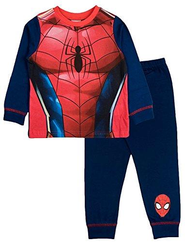 Cartoon Character Products Marvel Spiderman Costume Boys Pajamas 3-4 Years ()
