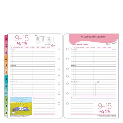 Her Point Of View Weekly - Classic Her Point of View Weekly Ring-bound Planner - Jul 2018 - Jun 2019